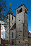 Regulated St Augustine's Church, Erfurt, Germany. Regulated St Augustine's Church ( Reglerkirche St. Augustinus, 12th century), Erfurt, Thuringia, Germany royalty free stock photography