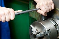Regulating of turning lathe Stock Images