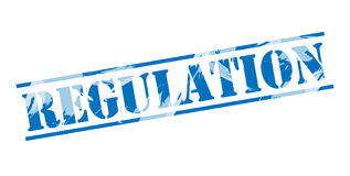 Regulation blue stamp. On white background Royalty Free Stock Photo