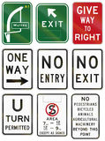 Regulation and Information Signs In Australia Stock Photos