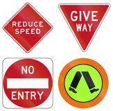 Regulation and Information Signs In Australia Royalty Free Stock Photo