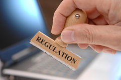 Regulation. Marked on rubber stamp Royalty Free Stock Photo