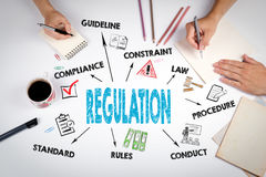 Regulation. The meeting at the white office table.  Stock Images