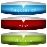 Regulation Risk Reform Chart. An image of a regulation risk reform chart Royalty Free Stock Photography