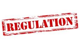 Regulation. Rubber stamp with word regulation inside,  illustration Stock Photo