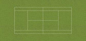 Regulation tennis court GRASS Stock Photo