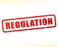 Regulation text buffered Stock Image