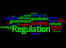 Regulation, word cloud concept 4 Royalty Free Stock Images