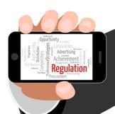 Regulation Word Indicates Rules Regulations And Text Stock Photos