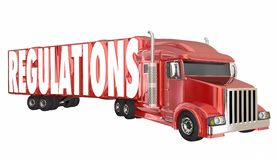 Regulations Trucking Transportation Shipping Laws Rules. 3d Illustration Royalty Free Stock Images