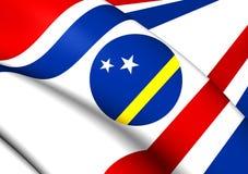 Regulator av den Curacao flaggan vektor illustrationer