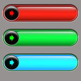 Volume bar. Regulator of loudness of different color Royalty Free Stock Photo