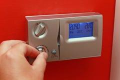 Regulator of temperature. Regulator of home central heating royalty free stock photos