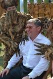 Regulatorn av den Tyumen regionen Vladimir Yakushev tog delen i F Royaltyfri Bild