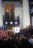 Regulatorn Bill Clinton ger segeranförande Fotografering för Bildbyråer