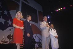 Regulatorn Bill Clinton talar på ett mottagande på det Little Rock stathuset Convention Center i 1992, Little Rock, Arkansas Royaltyfri Bild