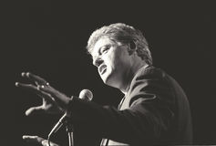 Regulatorn Bill Clinton talar på New York samlar under den Clinton/levrat blodaktionen av 1992 Royaltyfri Fotografi