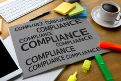 REGULATORY COMPLIANCE Business metaphor and technolog  describes Royalty Free Stock Photo