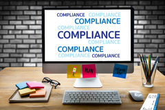 REGULATORY COMPLIANCE Business metaphor and technolog  describes Stock Photo