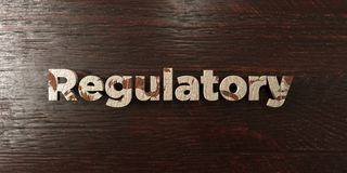 Regulatory - grungy wooden headline on Maple  - 3D rendered royalty free stock image Stock Images