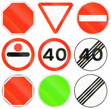 Regulatory Road Signs In Bangladesh Royalty Free Stock Photo