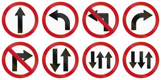 Regulatory Road Signs In Colombia Stock Image