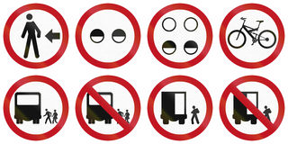Regulatory Road Signs In Colombia Royalty Free Stock Photos