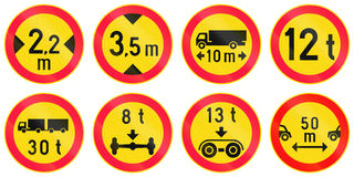Regulatory Road Signs In Finland Royalty Free Stock Photography