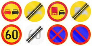 Regulatory Road Signs In Finland Stock Images