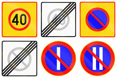 Regulatory Road Signs In Finland Royalty Free Stock Images
