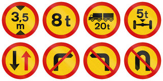 Regulatory Road Signs In Iceland Royalty Free Stock Photos