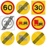 Regulatory Road Signs In Iceland Stock Photo