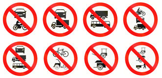 Regulatory Road Signs In Indonesia Stock Image