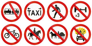 Regulatory Road Signs In Ireland Stock Photography