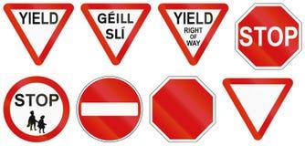 Regulatory Road Signs In Ireland Royalty Free Stock Photo