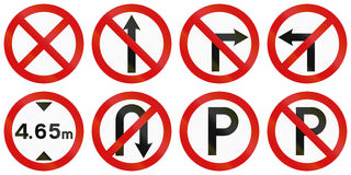 Regulatory Road Signs In Ireland Royalty Free Stock Photography