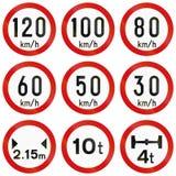 Regulatory Road Signs In Ireland Royalty Free Stock Image