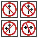 Regulatory road signs in Ontario - Canada Stock Image