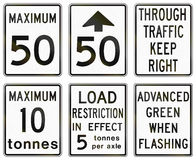 Regulatory road signs in Ontario - Canada Royalty Free Stock Image