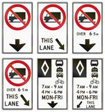 Regulatory road signs in Ontario - Canada Royalty Free Stock Photography