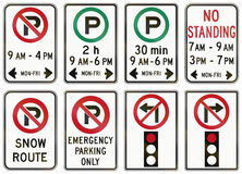 Regulatory road signs in Ontario - Canada Stock Images