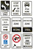 Regulatory road signs in Ontario - Canada Royalty Free Stock Photo