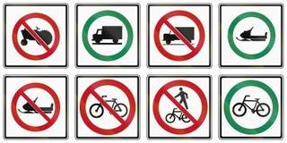 Regulatory road signs in Ontario - Canada Stock Image