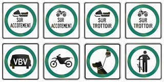 Regulatory road signs in Quebec - Canada Royalty Free Stock Image