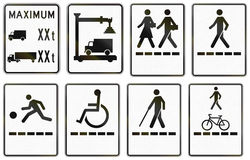 Regulatory road signs in Quebec - Canada Stock Photo