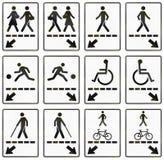 Regulatory road signs in Quebec - Canada. Collection of Regulatory road signs in Quebec - Canada royalty free illustration