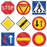 Regulatory Road signs used in Sweden Royalty Free Stock Images