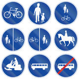 Regulatory Road signs used in Sweden Royalty Free Stock Image