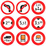 Regulatory road signs used in Switzerland Stock Photo