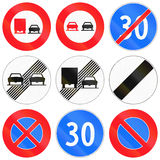 Regulatory road signs used in Switzerland Royalty Free Stock Image